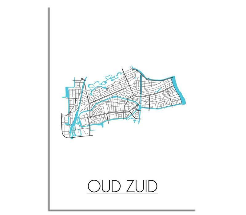 Amsterdam Oud Zuid Plattegrond poster