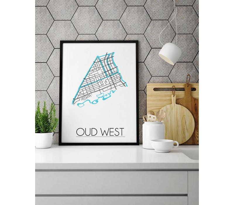 Amsterdam Oud West Plattegrond poster