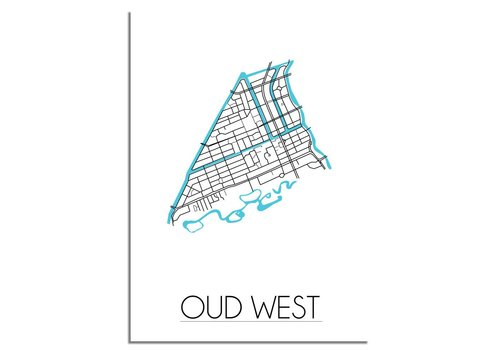 DesignClaud Amsterdam Oud West Plattegrond poster