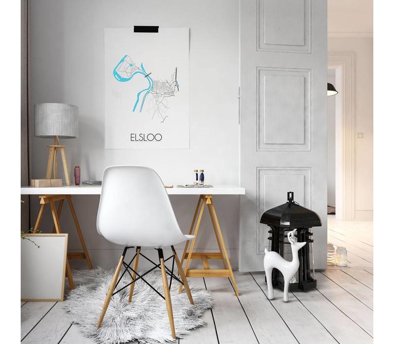 Elsloo Plattegrond poster