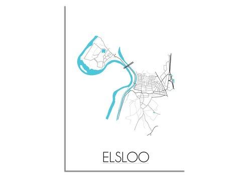 DesignClaud Elsloo Plattegrond poster