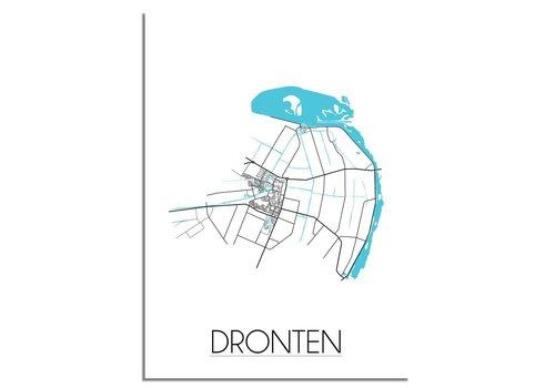 DesignClaud Dronten Plattegrond poster