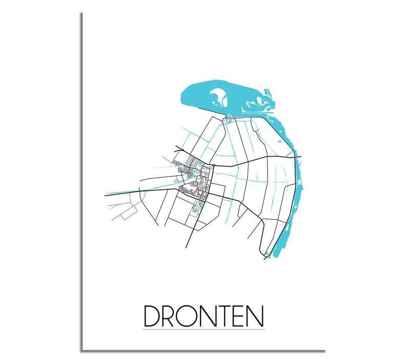 Dronten Plattegrond poster