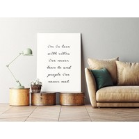I'm in love with cities - Tekst poster - Wanddecoratie - Zwart wit poster