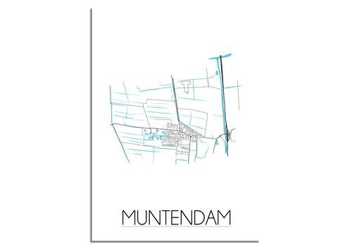 DesignClaud Muntendam Plattegrond poster