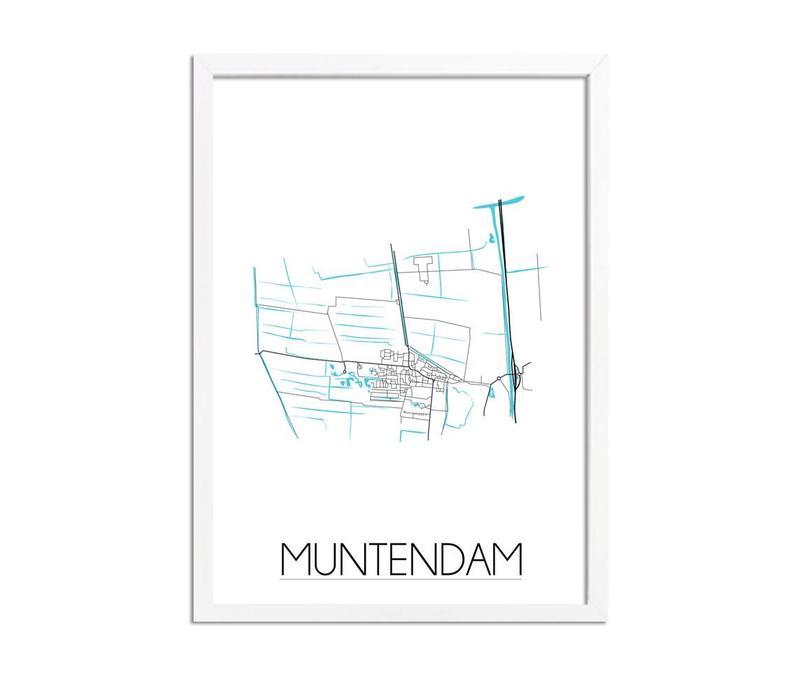 Muntendam Plattegrond poster