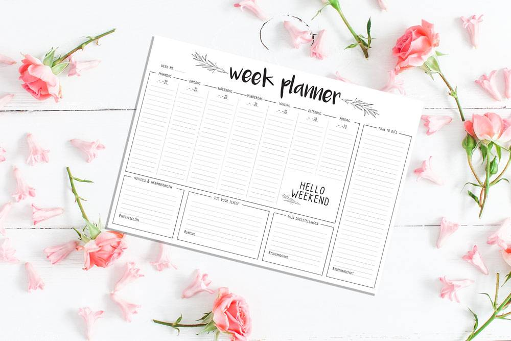 Stationery love: to do's + lijstjes + agenda = weekplanner!