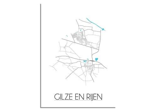 DesignClaud Gilze en Rijen Plattegrond poster
