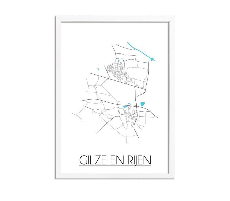 Gilze en Rijen Plattegrond poster
