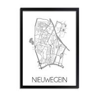 Nieuwegein Plattegrond poster