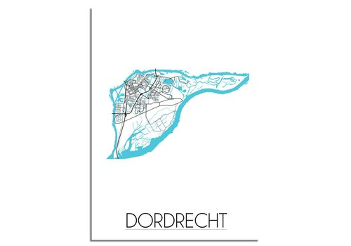 DesignClaud Dordrecht Plattegrond poster