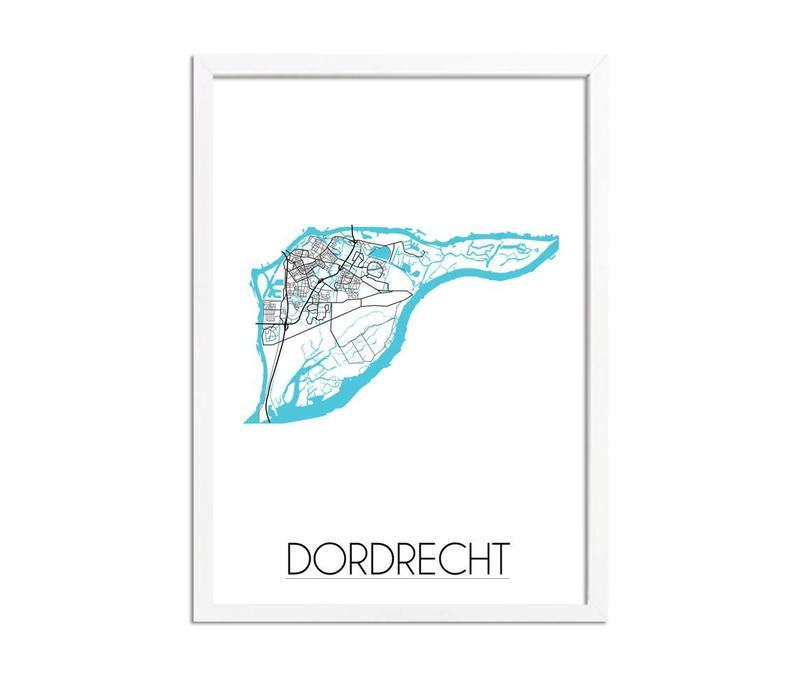 Dordrecht Plattegrond poster