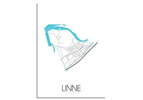 DesignClaud Linne Plattegrond poster