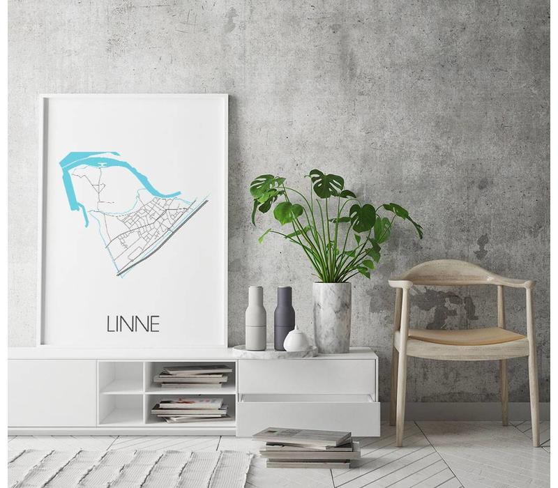 Linne Plattegrond poster