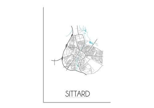 DesignClaud Sittard Plattegrond poster