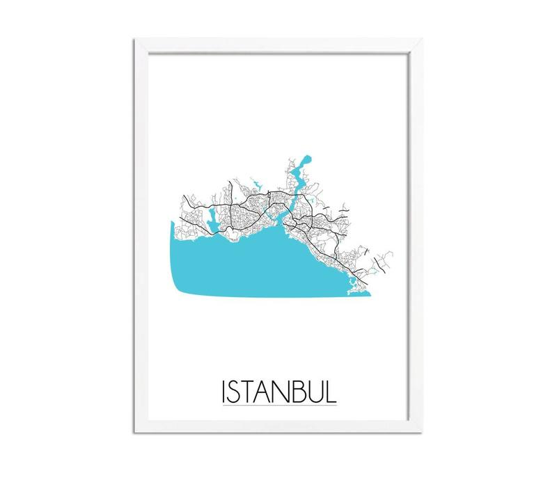 Istanbul Plattegrond poster