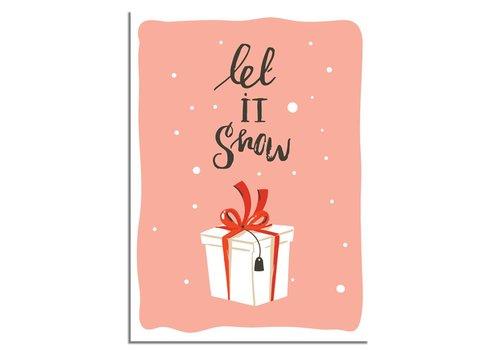 DesignClaud Weihnachtsposter Let it snow - Weihnachtsdekoration Farbenfroh