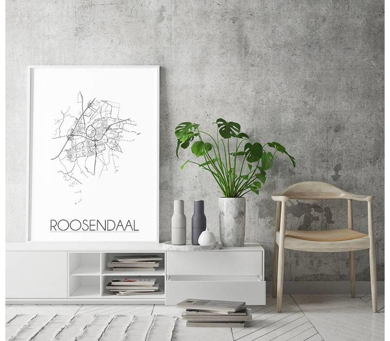 Roosendaal Plattegrond poster