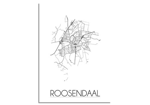 DesignClaud Roosendaal Plattegrond poster