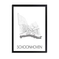 Schoonhoven Plattegrond poster