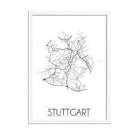 Stuttgart Plattegrond poster