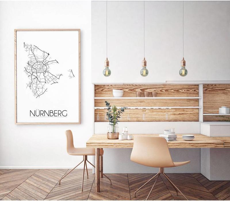 Nürnberg Plattegrond poster