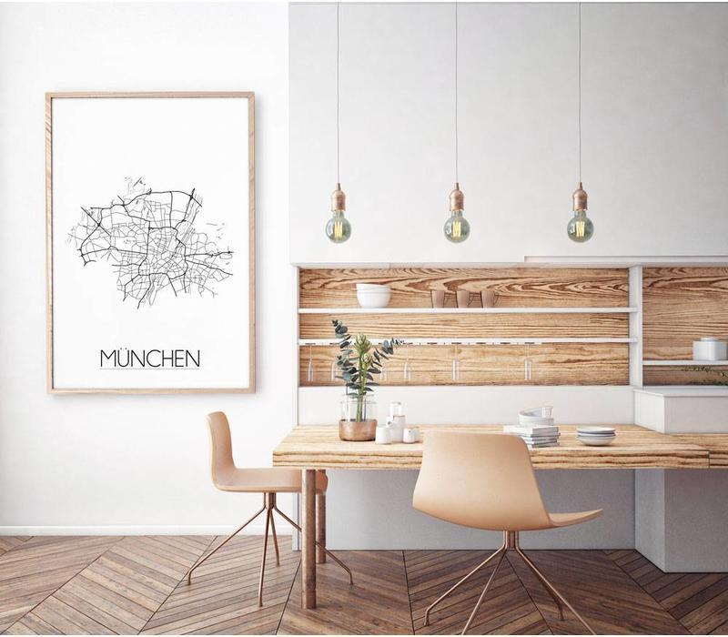 München Plattegrond poster