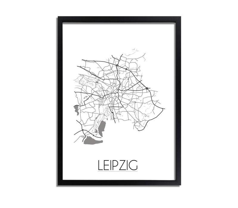 Leipzig Plattegrond poster