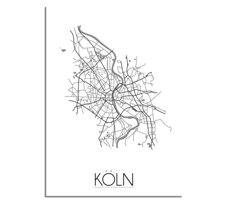 Keulen Köln Plattegrond poster