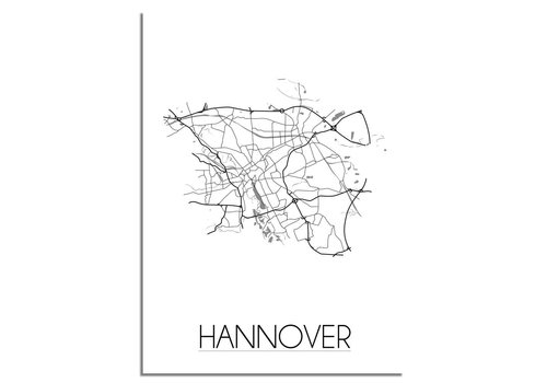 DesignClaud Hannover Plattegrond poster