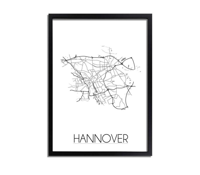 Hannover Plattegrond poster