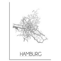Hamburg Plattegrond poster