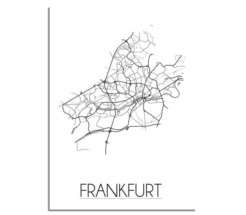 Frankfurt Plattegrond poster