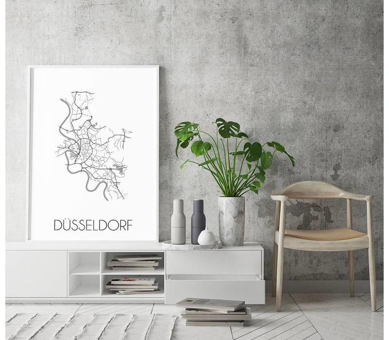 Dusseldorf Plattegrond poster