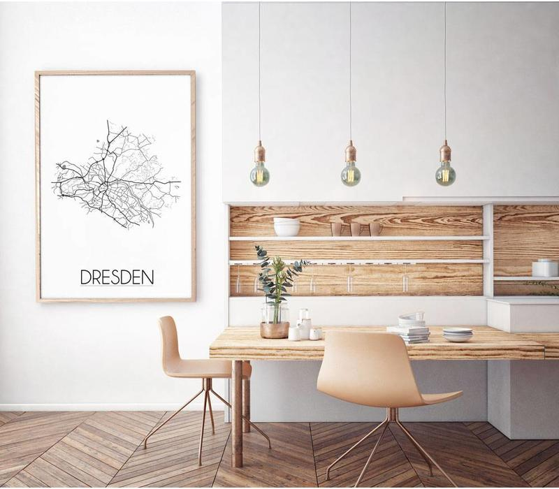 Dresden Plattegrond poster
