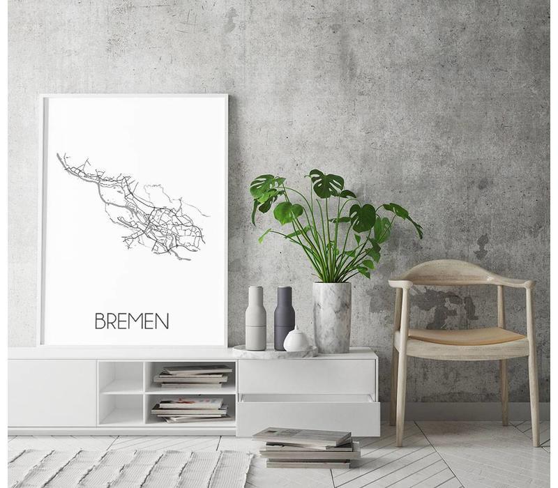 Bremen Plattegrond poster