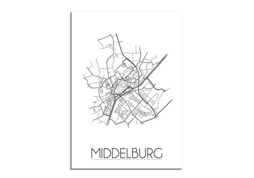 DesignClaud Middelburg Plattegrond poster