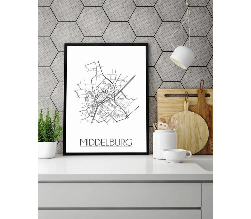 Middelburg Plattegrond poster