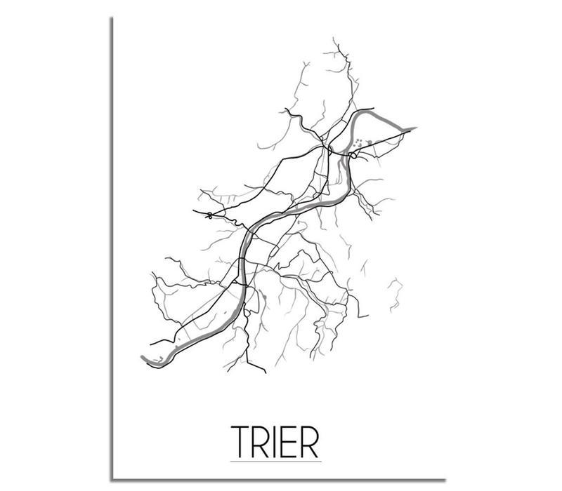 Trier Plattegrond poster