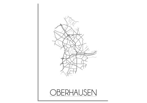 DesignClaud Oberhausen Plattegrond poster