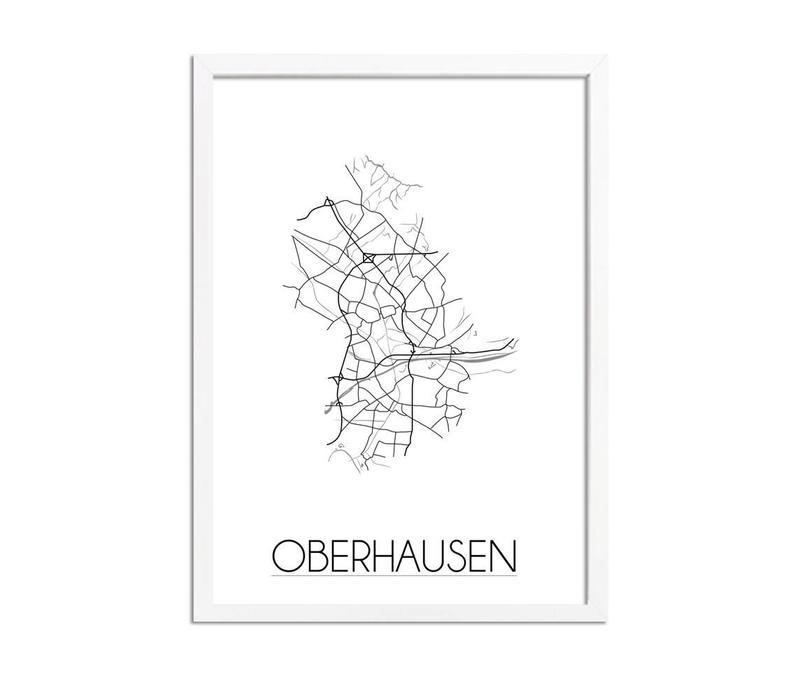 Oberhausen Plattegrond poster