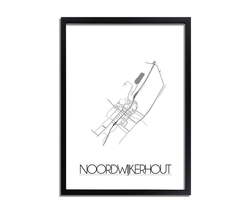 Noordwijkerhout Plattegrond poster