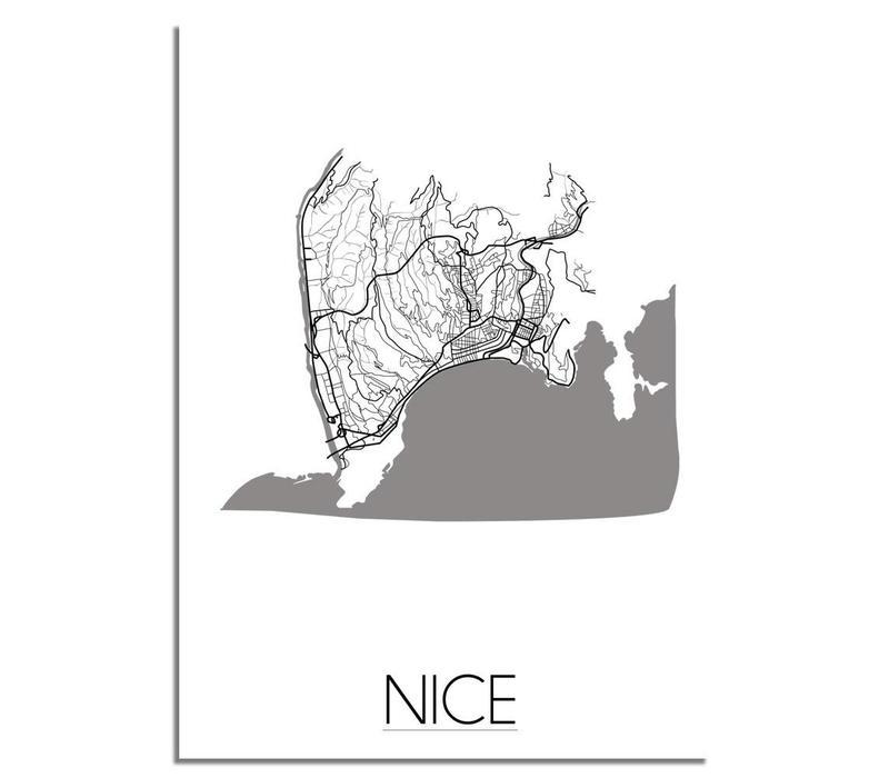 Nice Plattegrond poster