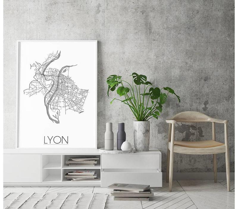 Lyon Plattegrond poster