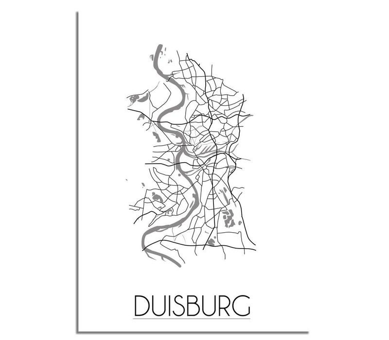 Duisburg Plattegrond poster