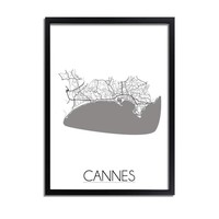 Cannes Plattegrond poster