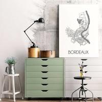 Bordeaux Plattegrond poster