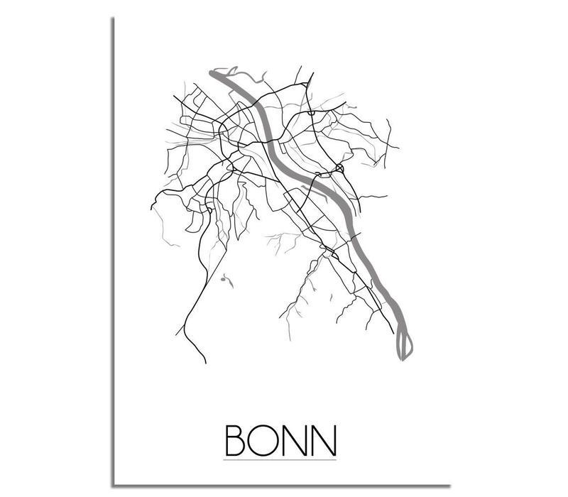 Bonn Plattegrond poster