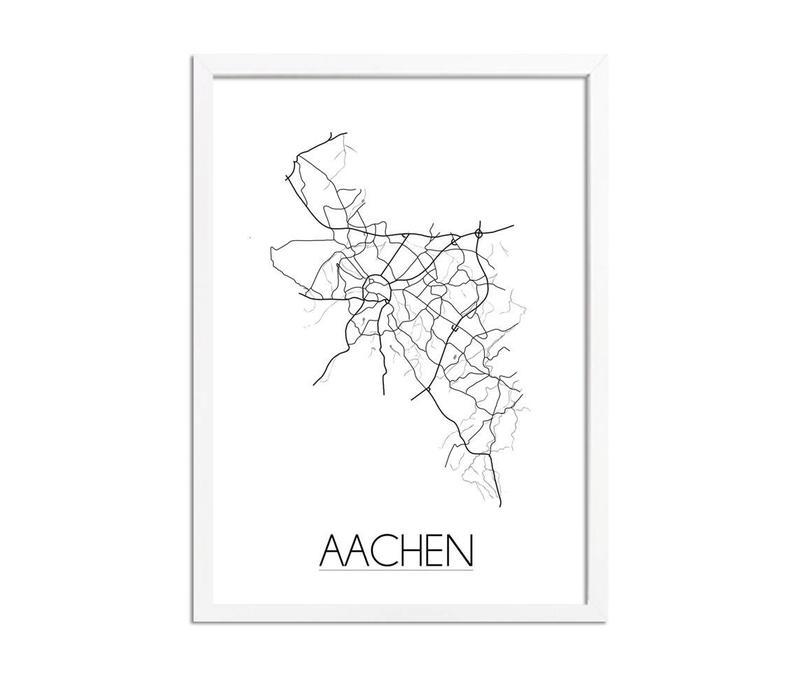 Aachen Plattegrond poster