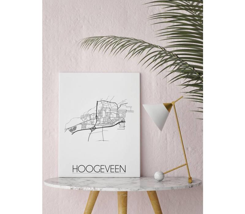 Hoogeveen Plattegrond poster